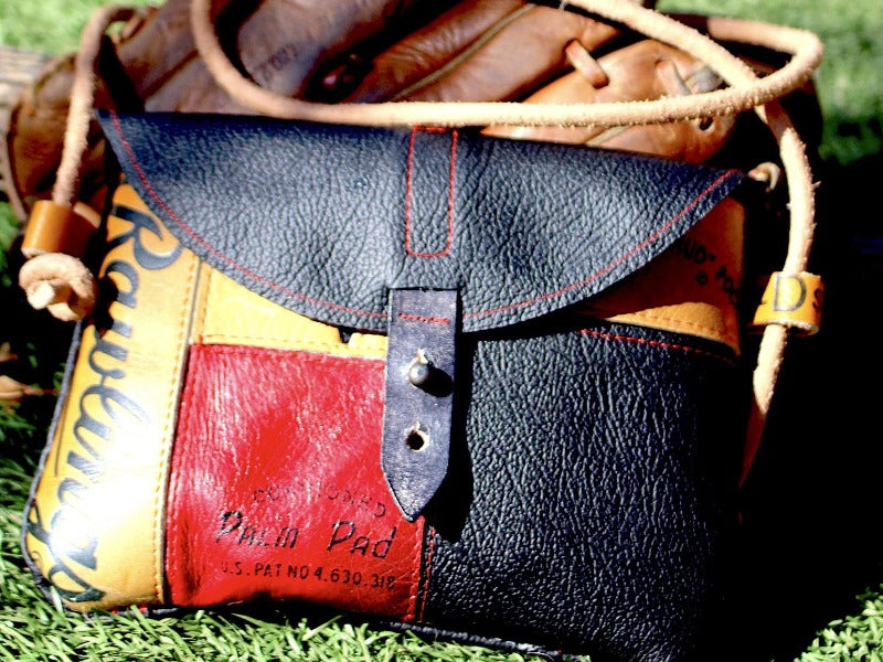 Baseball Glove Leather Cell Phone Purse