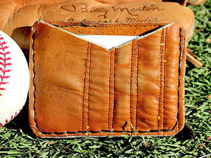 Baseball Glove Leather Minimalist Wallet
