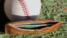 Load image into Gallery viewer, Baseball Glove Leather Minimalist Wallet