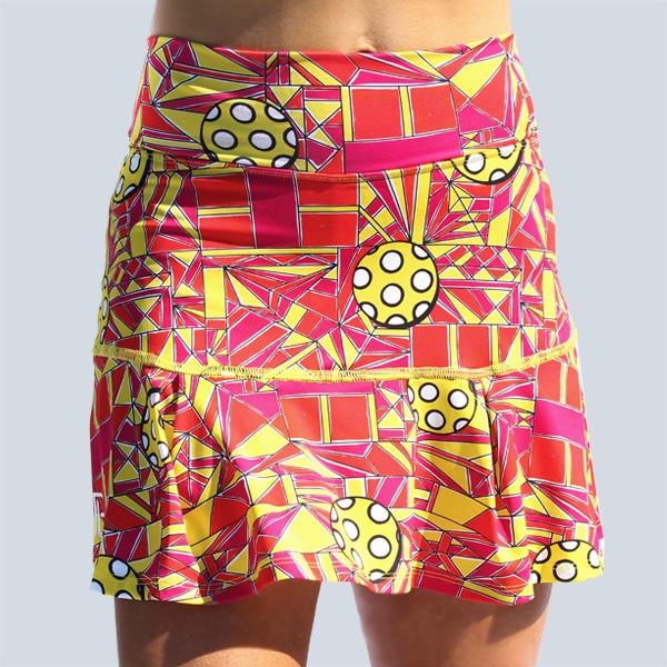 PICKLEBALL ANGLE SHOT DROP-PLEAT SKORT