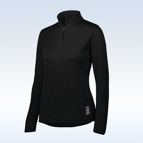 Bella Bella Sports Black 1/4 Zip Pullover