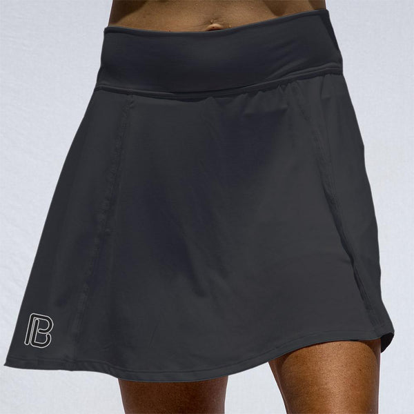 PICKLEBALL BASIC BLACK A-LINE SKORT