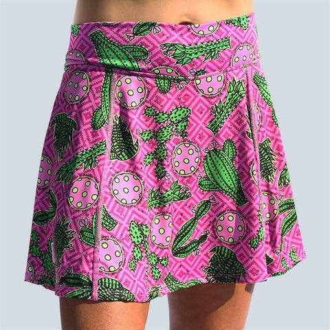 PICKLEBALL CACTUS MAKES PERFECT 2 A-LINE SKORT