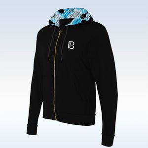 Pickleball Bella Black Graffiti 2 Full-Zip Hoodie