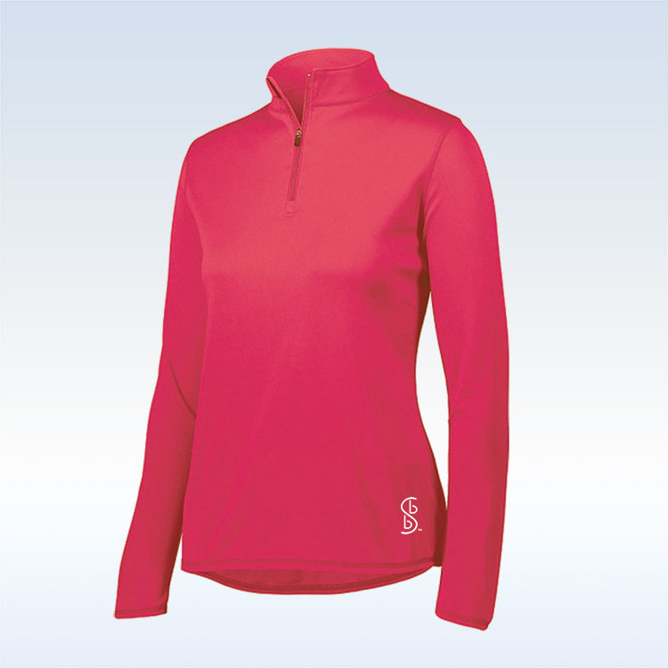 Bella Bella Sports Pink 1/4 Zip Pullover