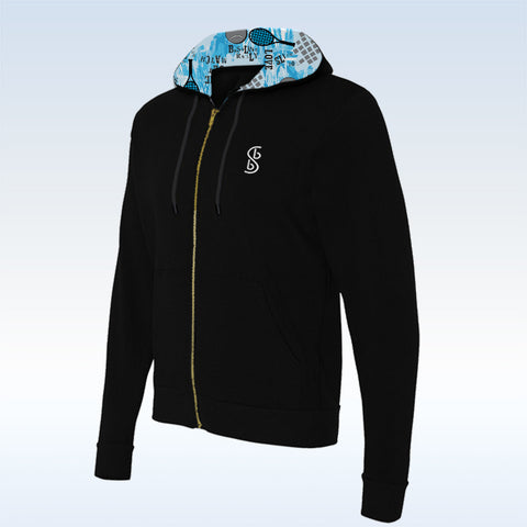 Tennis Bella Black Graffiti 2 Full-Zip Hoodie