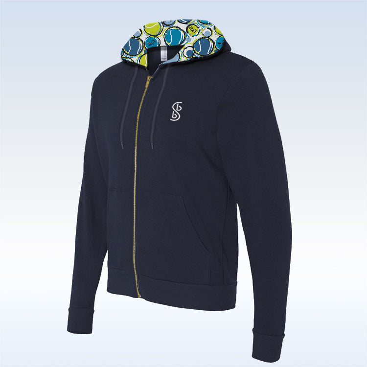 Tennis Bella Navy Love 1 Full-Zip Hoodie