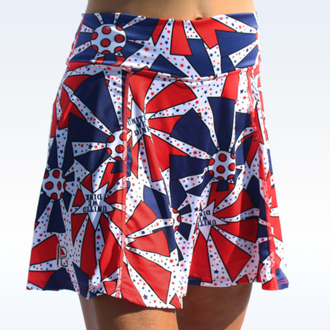 PICKLEBALL UNITED WE DINK A-LINE SKORT