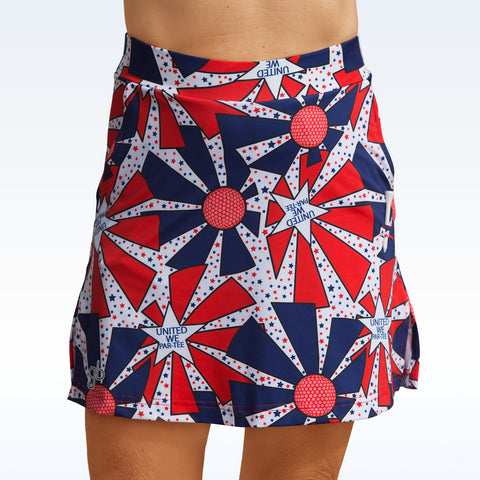 Golf Bella United We Par-Tee Straight Skort