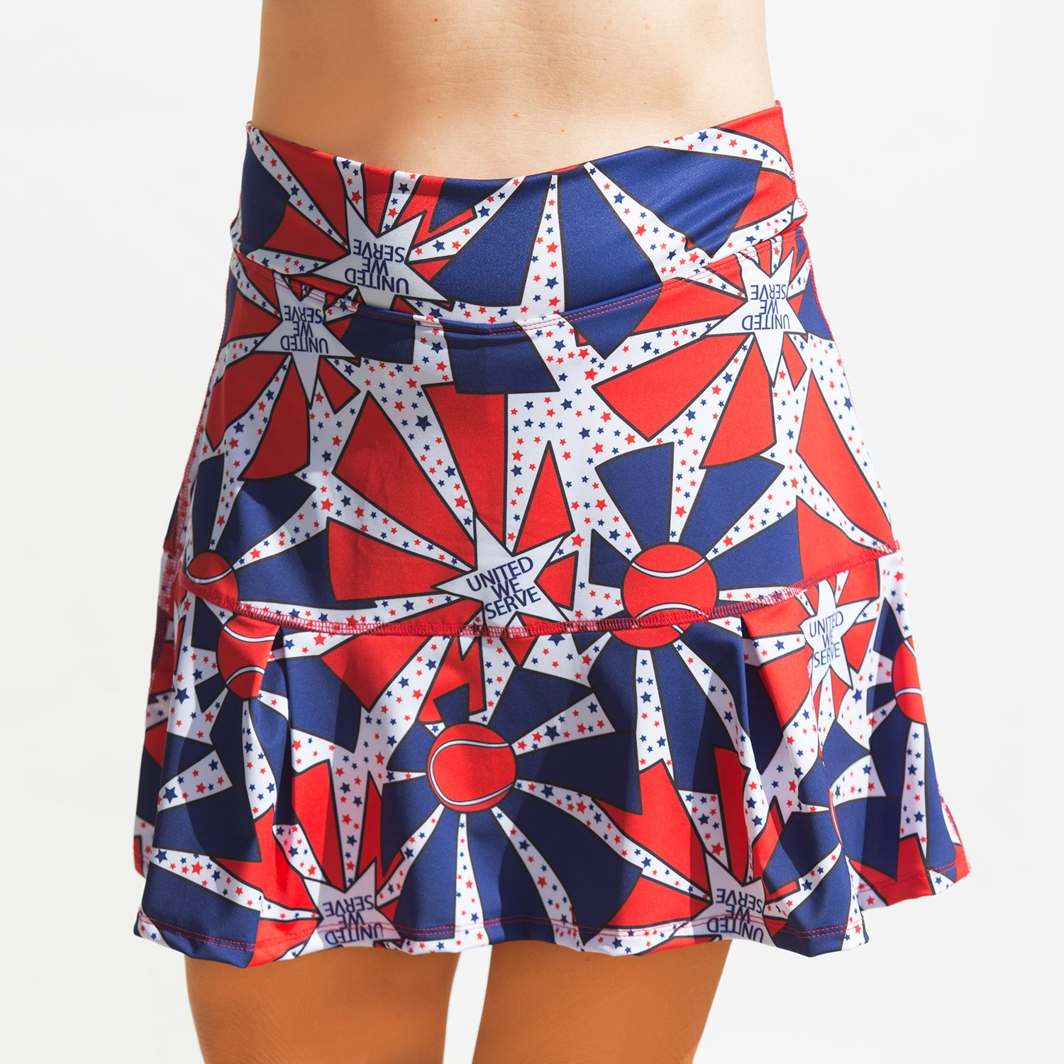 Tennis Bella United We Serve Kick-pleat Skort