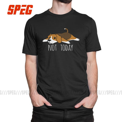 Funny Not Today Beagle dog T Shirts Round Collar T-Shirts Summer Pure Cotton Original Short-Sleeve Male Tees-Beagle Generation