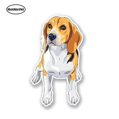 Cartoon Beagle Dog Decal Personality Car Sticker Waterproof Graphic-Beagle Generation