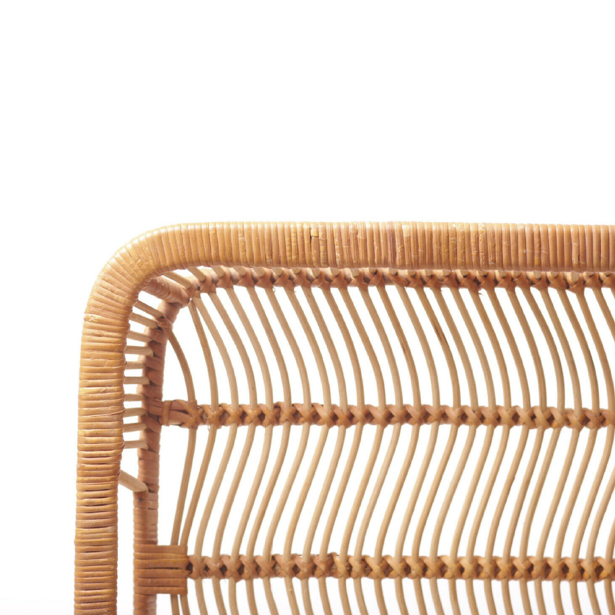 Vintage Woven Bamboo Serving Tray The Continuum Shop