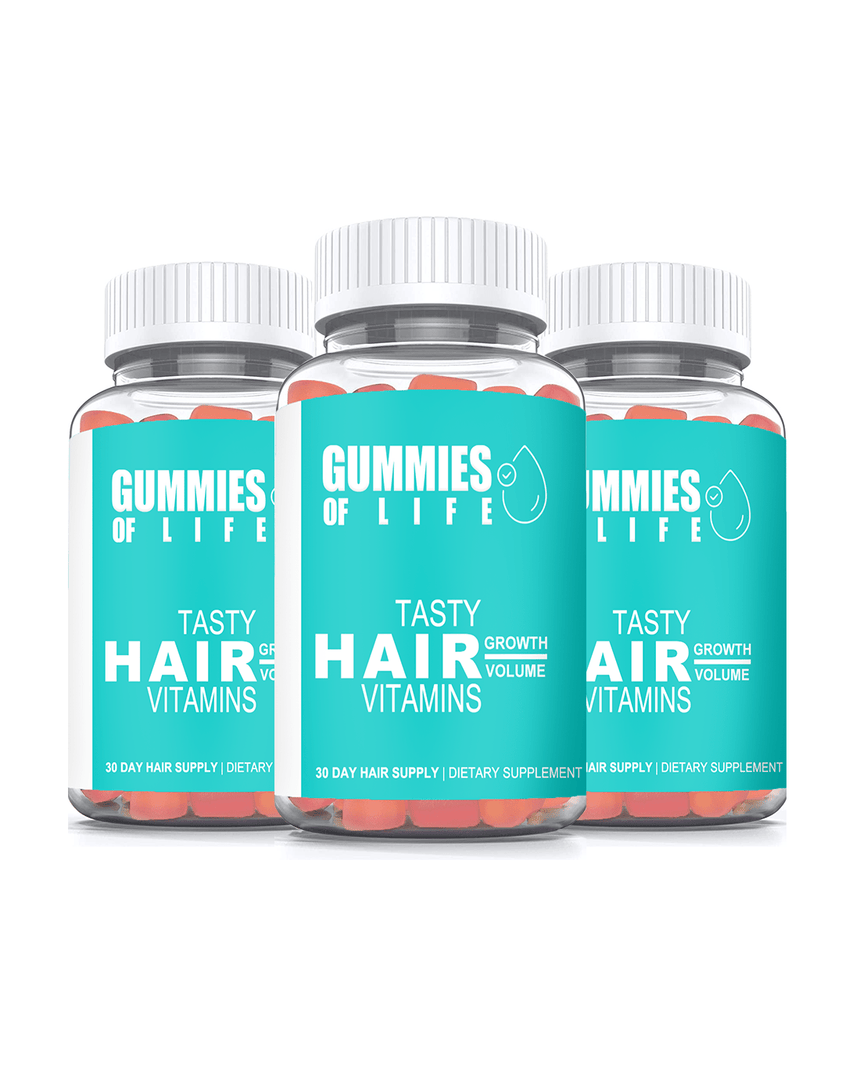 Gummies Of Life: Gummy Bear Hair Vitamins - 90 Day Supply (Growth & Volume)