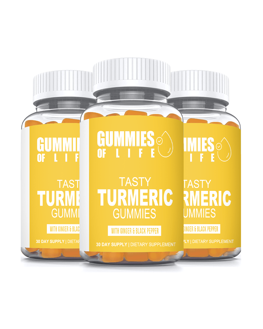 Gummies Of Life: Tasty Turmeric Gummies for Anti-Inflammation & Supports Joint Pain Relief - 3 Month Supply - Gummies Of Life