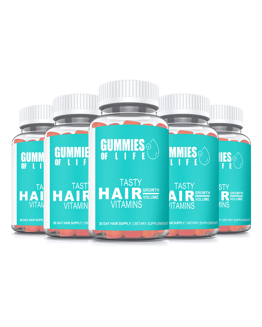 Gummies Of Life: Gummy Bear Hair Vitamins - 150 Day Supply (Growth & Volume)