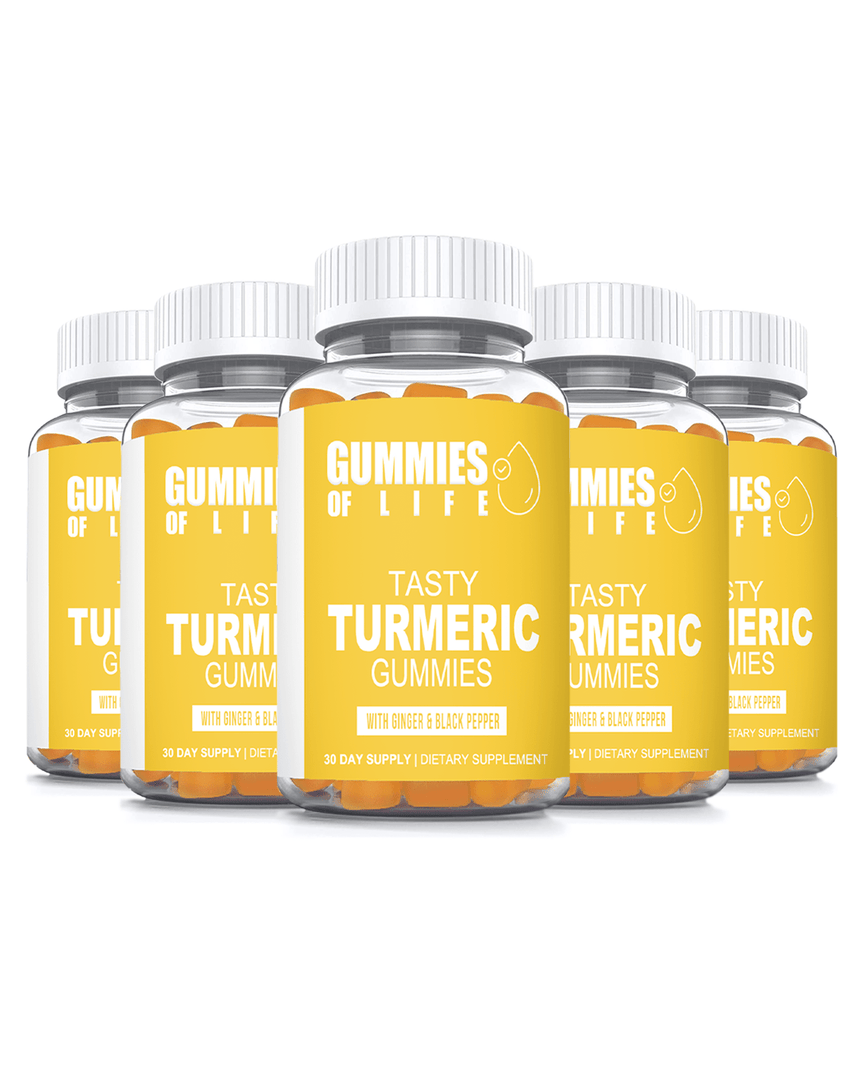 Gummies Of Life: Tasty Turmeric Gummies for Anti-Inflammation & Supports Joint Pain Relief - 5 Month Supply - Gummies Of Life