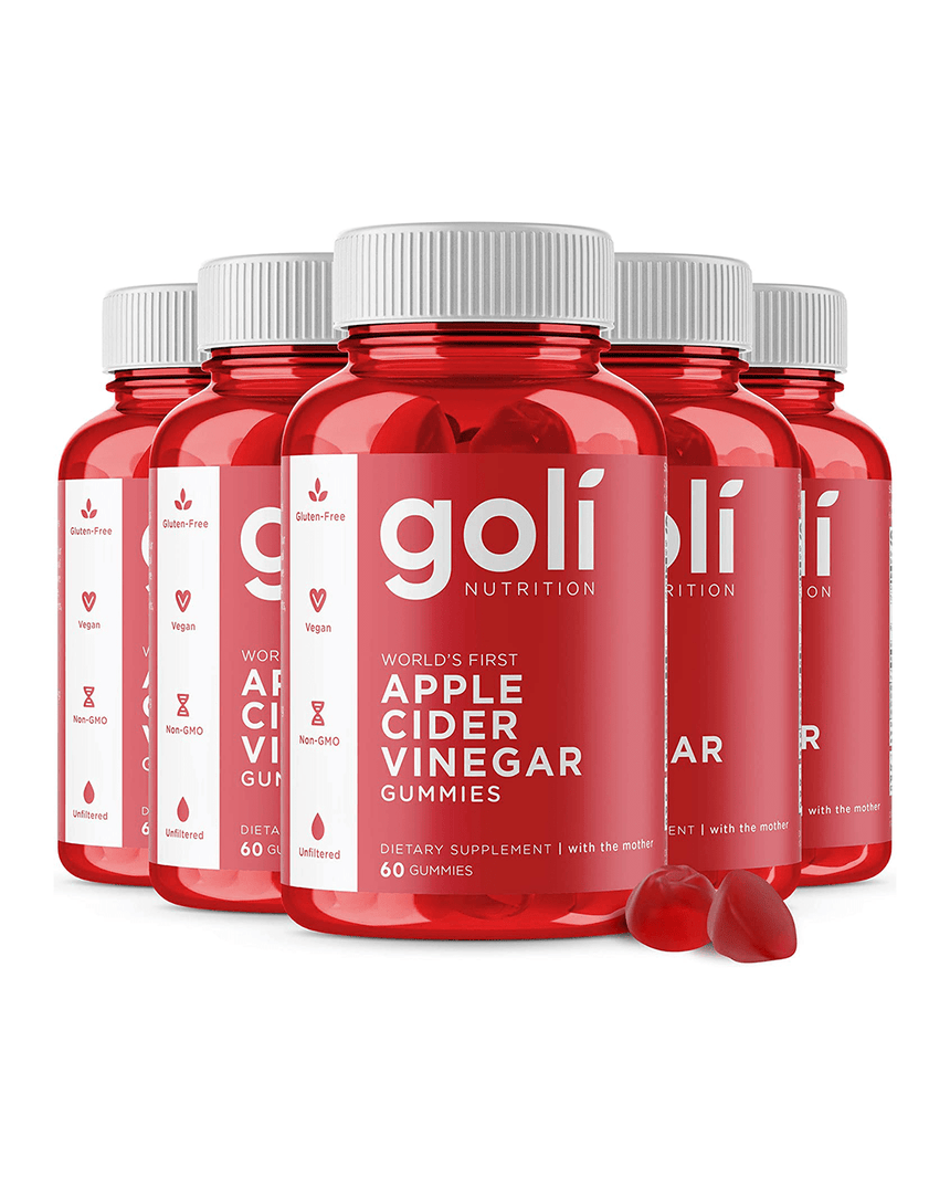 Goli Nutrition Apple Cider Vinegar Gummies - 5 Bottles (300ct) - Gummies Of Life
