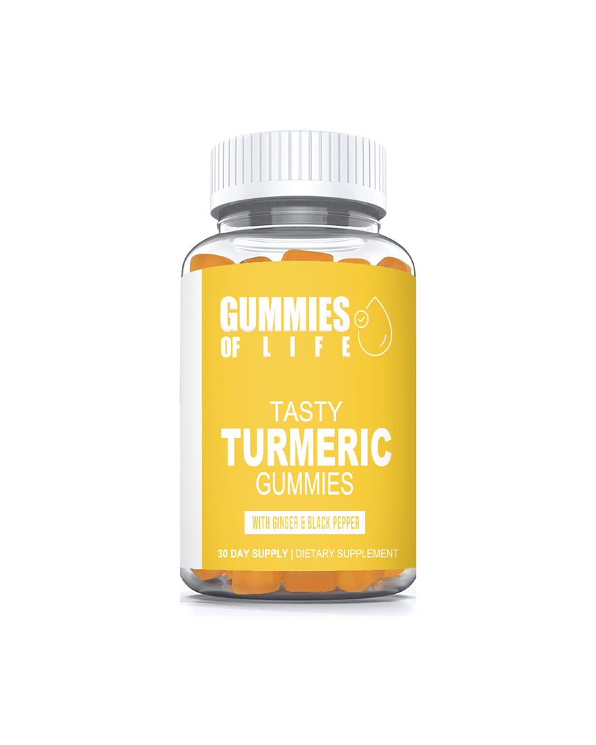 Gummies Of Life: Tasty Turmeric Gummies for Anti-Inflammation & Supports Joint Pain Relief - 1 Month Supply - Gummies Of Life