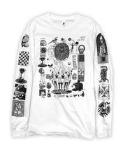 Load image into Gallery viewer, WHITE Hack the Simulation Longsleeve T-Shirt