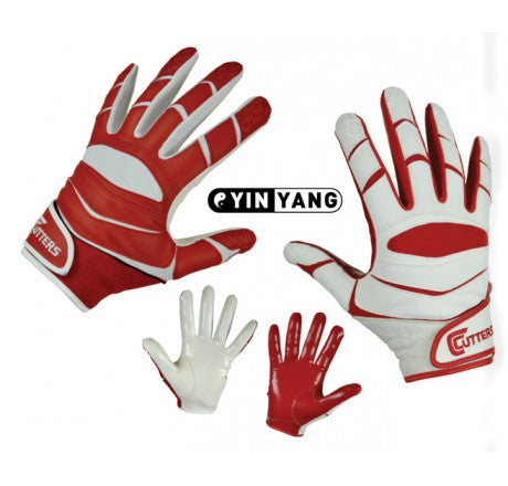 Cutters Senior X40 Football Gloves - Red