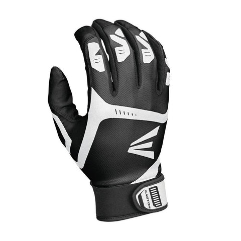 Easton Senior Men's Gametime Batting Gloves (Black)