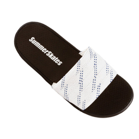 Summer Skates Senior Sandals (White-Blue)