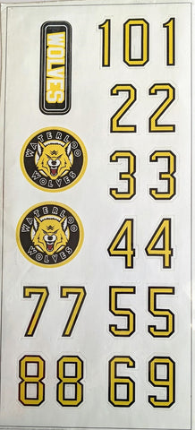 Waterloo Wolves Helmet Sticker Set