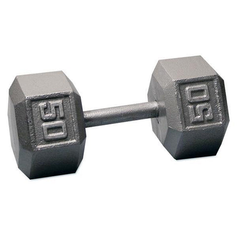 York 50 LB Hex Dumbells