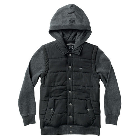 PUFFER FLEECE - BLACK