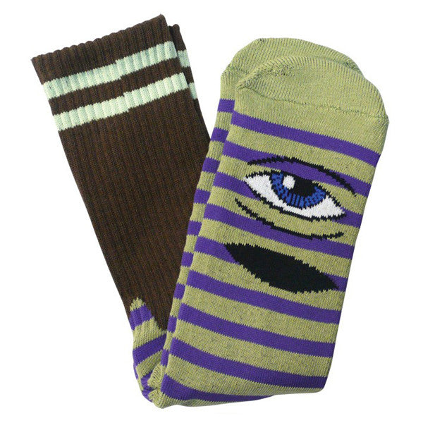 SECT EYE STRIPE - GREEN / PURPLE