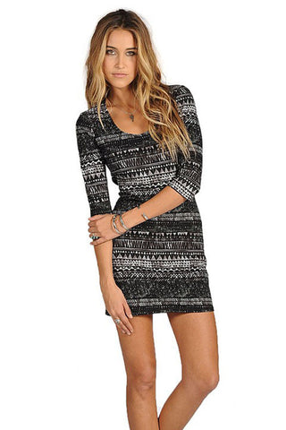 TIPSY DRESS - BLACK