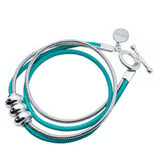 Load image into Gallery viewer, TEAL WRAP BRACELET