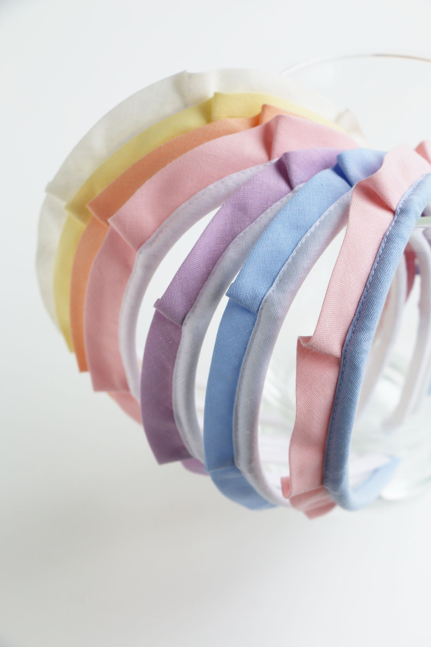 DOUBLE PASTEL COLOR CROWN HEADBAND