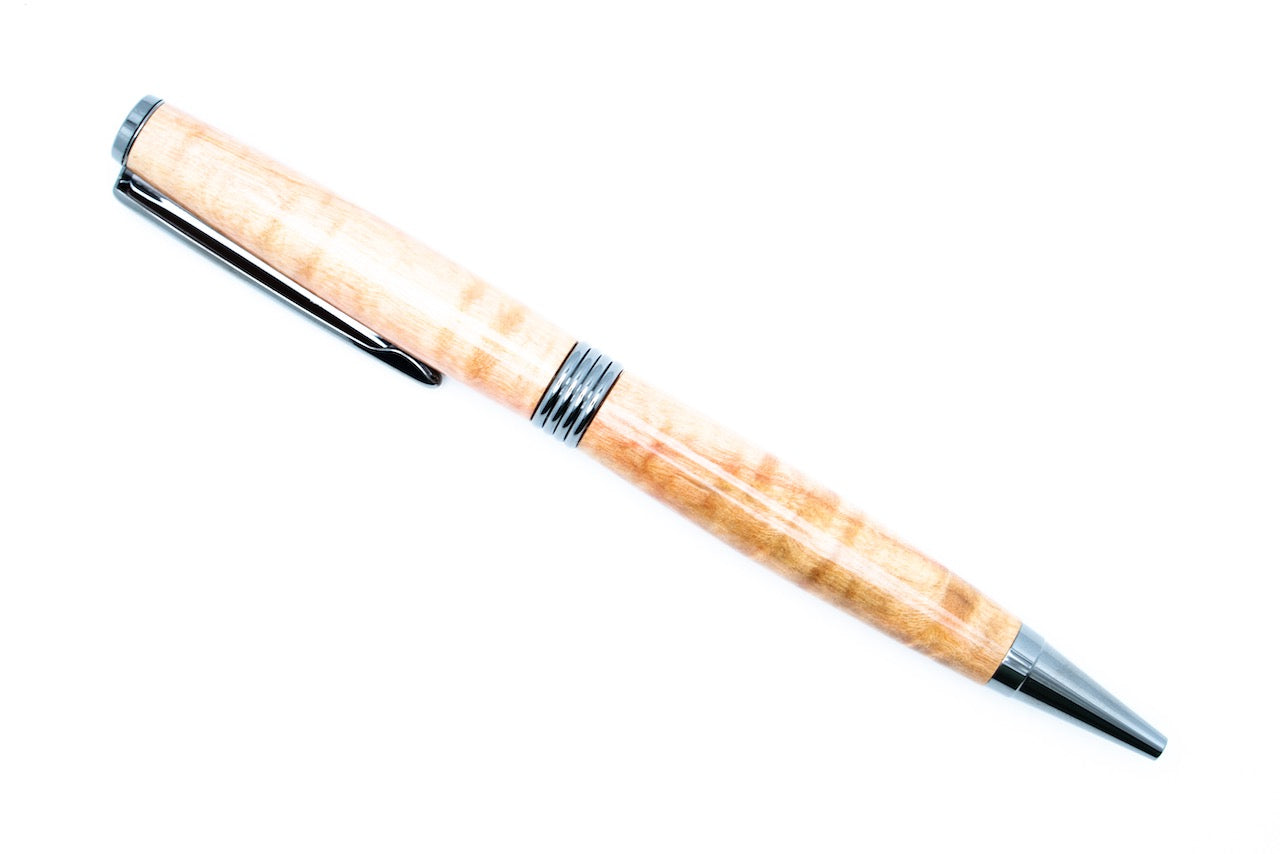 Birdseye Maple Black Titanium Streamline Pen