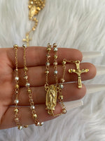 Shiny Tricolor Mary Rosary