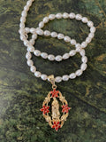 Freshwater Pearl Floral Mary Necklace