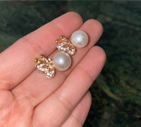 Pearly Butterfly Studs