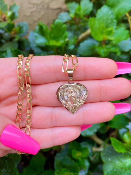 Diamond Cut Mary Heart