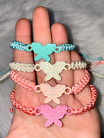 Woven Butterfly Bracelet In 4 Color Choices
