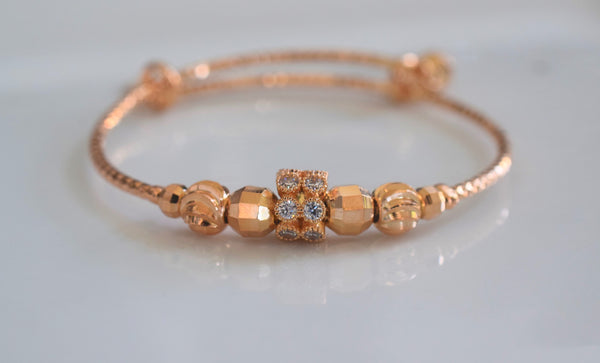 Rose Gold Plated Adjustable Kids Or Adult Bangle
