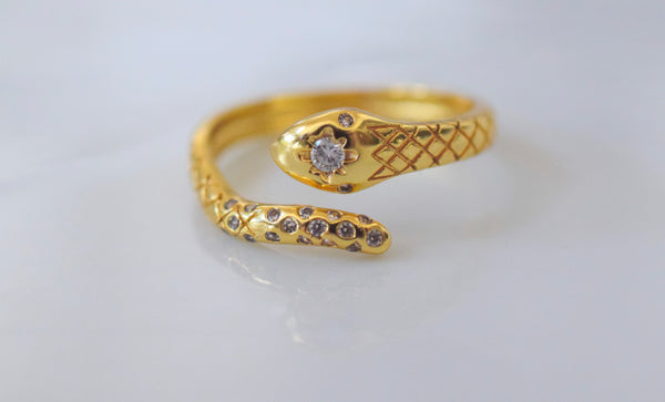 Rattle Dazzle Snake Ring