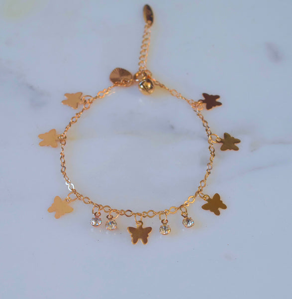 Butterfly Bling Anklet