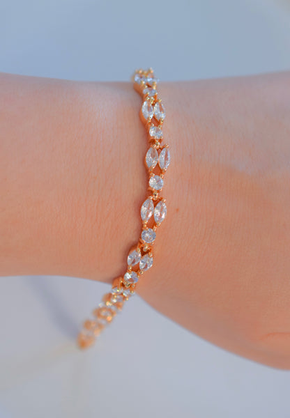 Double Row Marquise Bling Bracelet