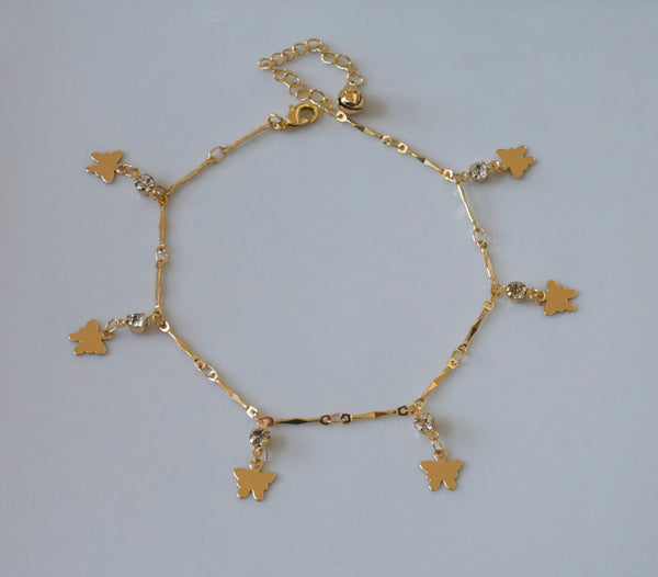 Bling Butterly Anklet