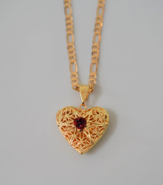 Lace Heart Locket