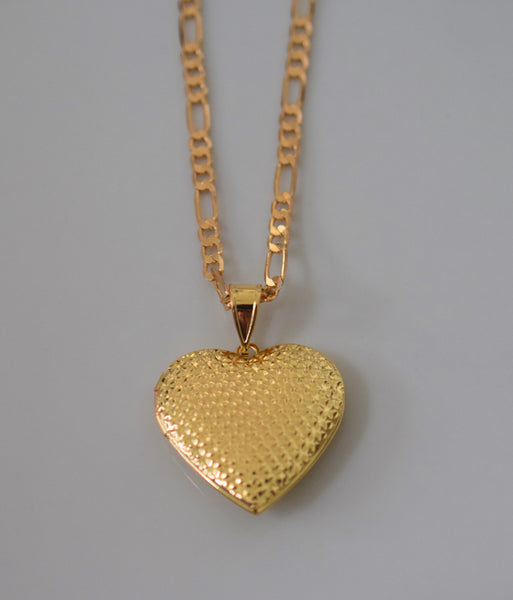 Heart Shaped Two Photo Locket Necklace