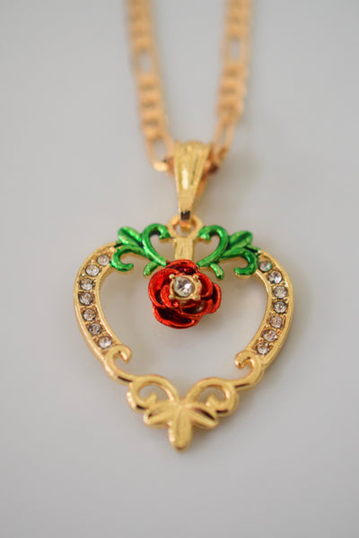 Rose Heart Necklace