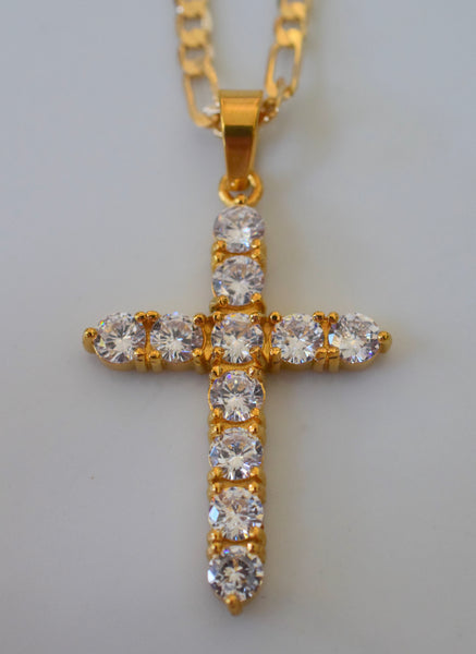 Icy Cross In Gold