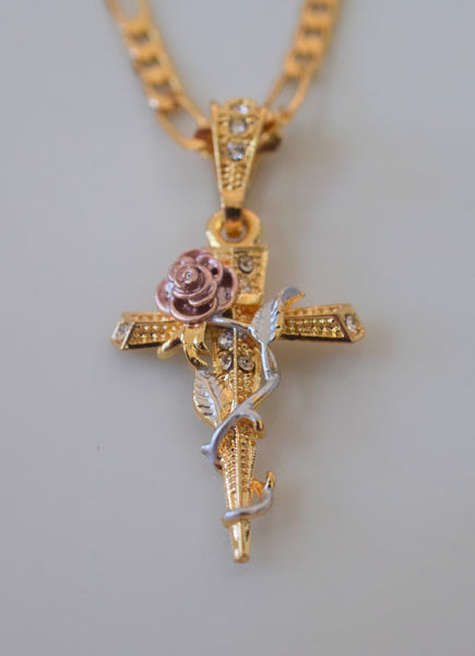 Bling Rose Cross
